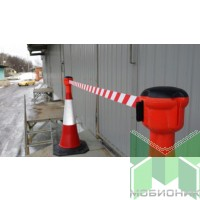 Конус-ограждение 1 метр с вытяжной лентой до 4,5 м