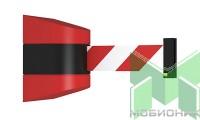 Настенный блок с красно-белой лентой Barrier Belt WP. Общий вид