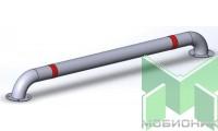 Колесоотбойник прямой на отводах КМ-2000/76Х3