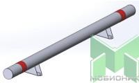 Колесоотбойник прямой на ножках усиленный КМ-2000/108Х3