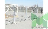 Ворота строительного ограждения 4,0 метра (2х2,0м), оцинк.
