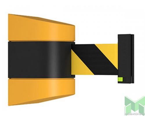 Настенный блок с желто-черной лентой Barrier Belt WP. Общий вид