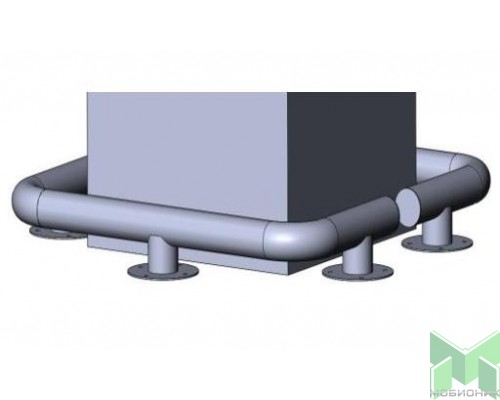 Колесоотбойник для колонн на отводах КМ-600/76Х3