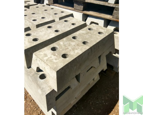 Опорный блок бетонный 600х300х175мм