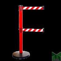 Имидж-стойка Barrier Belt 11R красная с двумя вытяжными лентами