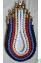 """Плетеные декоративные канаты 2 метра. Черный, Синий, Красный, """"Золотой"""", Белый"""
